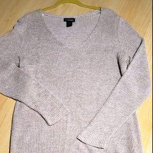 Lane Bryant Oatmeal Color V-Neck Sweater
